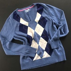 Vintage Baby blue preppy IZOD sweater 100% cotton